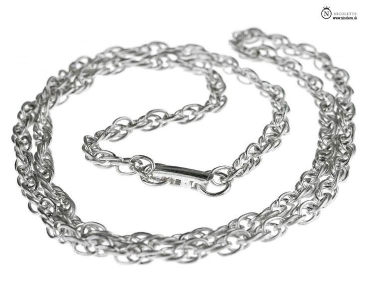 Rope strieborná retiazka - náhrdelník https://www.nicolette.sk