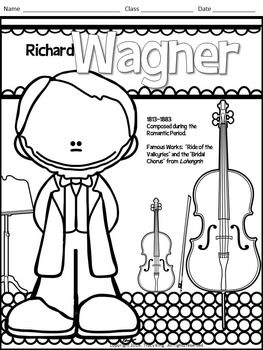 MEET THE COMPOSERS-SET OF 12 COLORING SHEETS /COLORING BOOK FOR MUSIC CLASS - TeachersPayTeachers.com