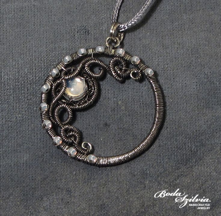 4654 best wire forme images on pinterest wire jewelry wire moon by bodaszilviaiantart wire wrapped necklacewire aloadofball Images