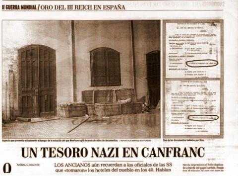 documents attestant du passage le 24 décembre 1943 de 1,613 tonnes de lingots d'or et trois jours plus tard de 1,623 tonnes.....