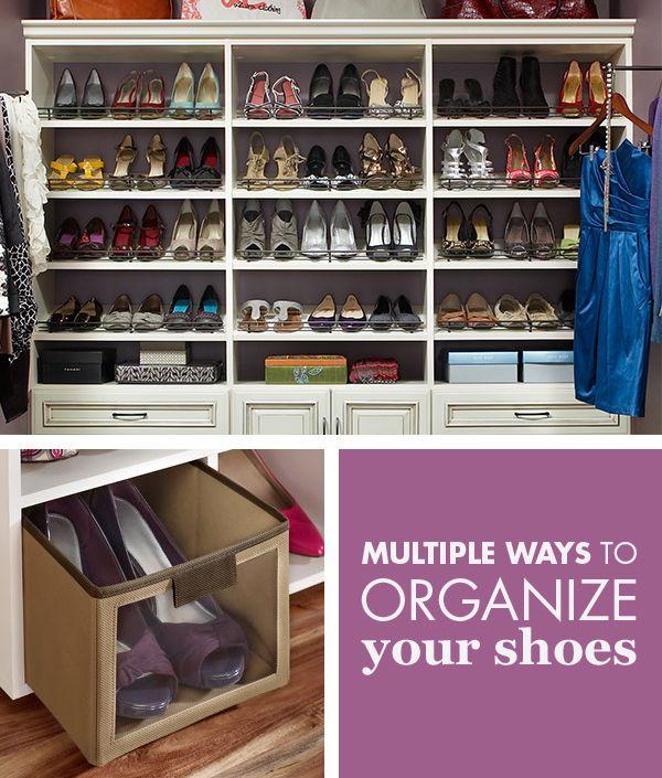 Easily Match Your Shoes With Your Outfit? Closet Maid Has Multiple Ways To  Organize Your