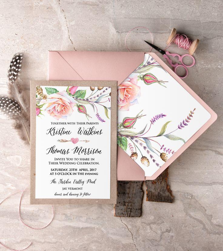 wedding celebration invitation%0A WEDDING INVITATIONS watercolor    BHszR z