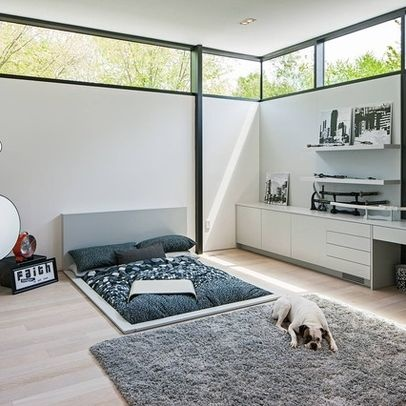 modern bed sunk into floor house dreams pinterest
