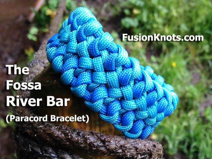 How to Make a Fossa River Bar (Paracord) Bracelet by TIAT