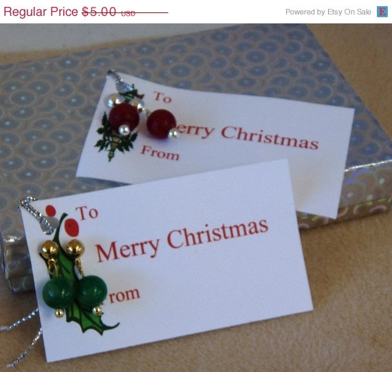 Christmas in July Christmas Gift tag with by rosepetalsjewelry, $5.00