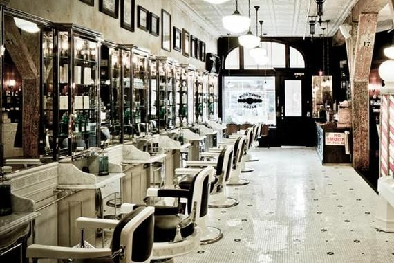 Sapce plan art deco hair salon barbershop barber - Deco salon vintage ...