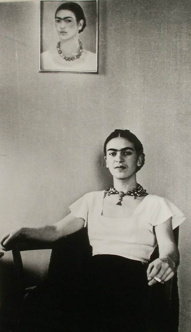 I paint self-portraits because I am so often alone, because I am the person I know best.  Frida Kahlo