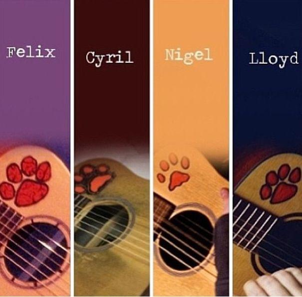 Ed sheerans guitars names. I named mine Nigel after his .