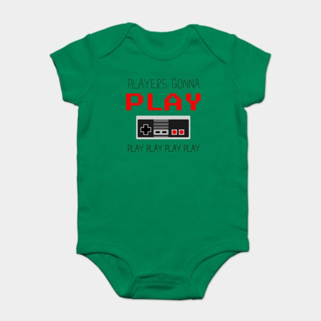 Get your baby started off right with this Players Gonna Play NES Onesy. Start that love of gaming from birth!