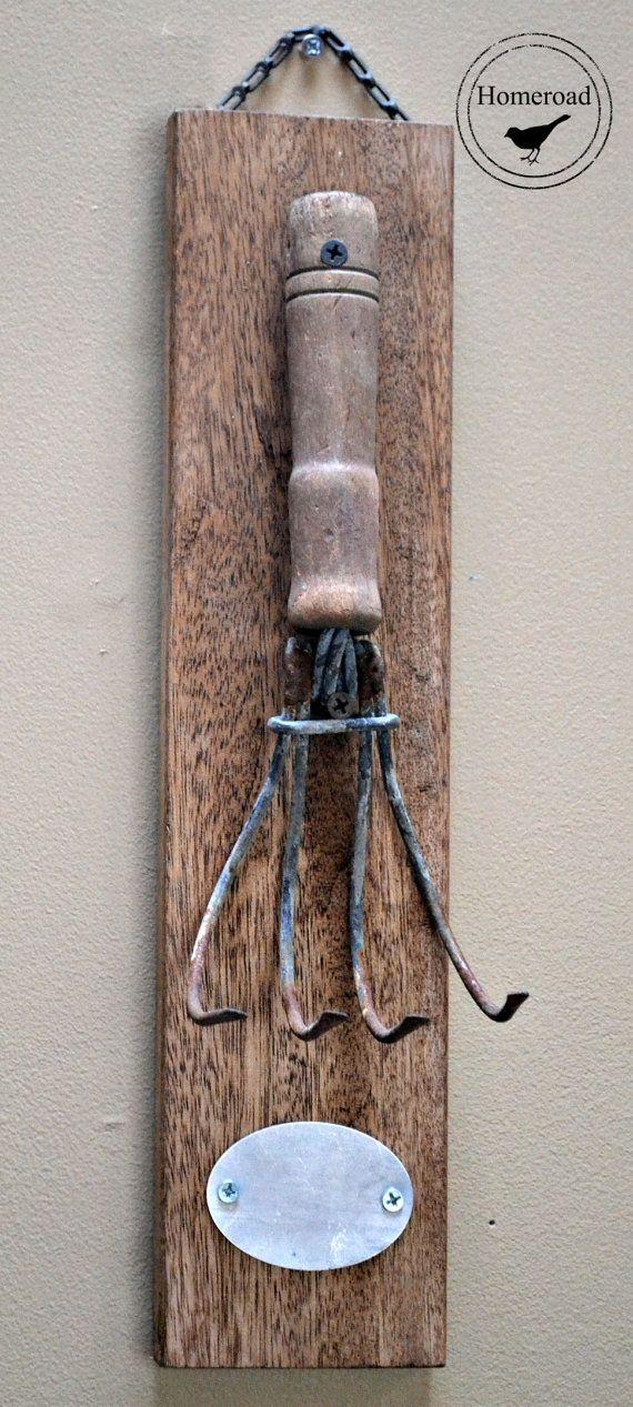 Repurposed Vintage Rake Hook www.homeroad.net