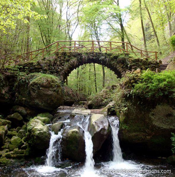 Cascade dans la région de Mullerthal dans l'est du Luxembourg