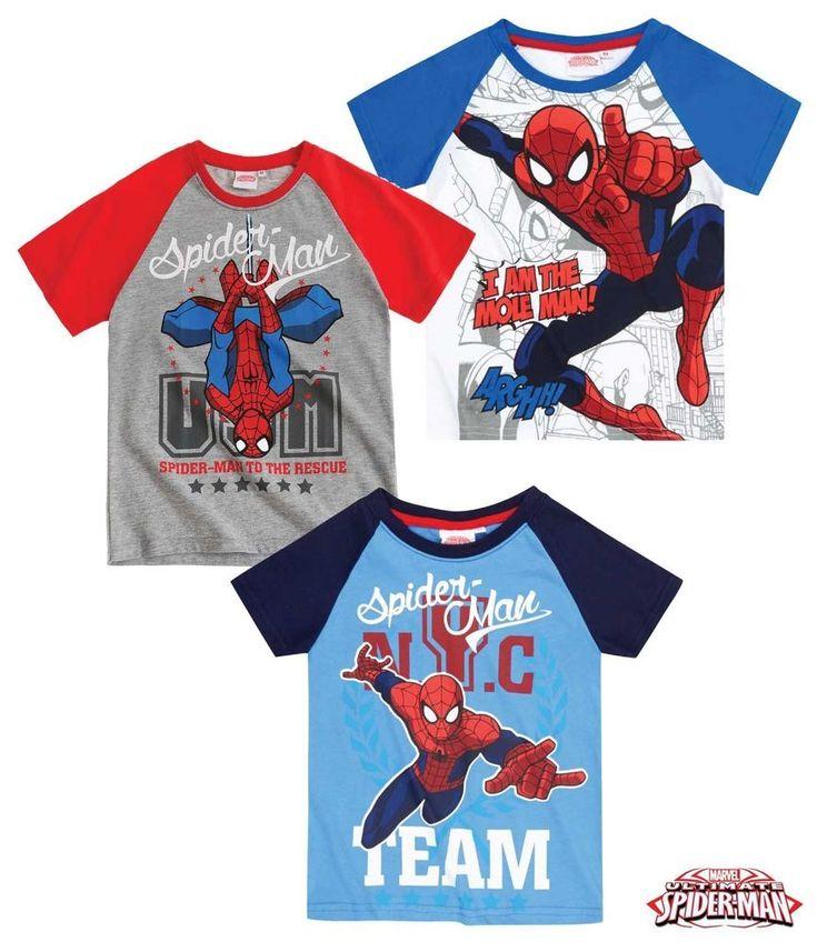 Spider-Man Boys Official Licensed Kids short sleeve T-Shirt Sizes 4 035864971