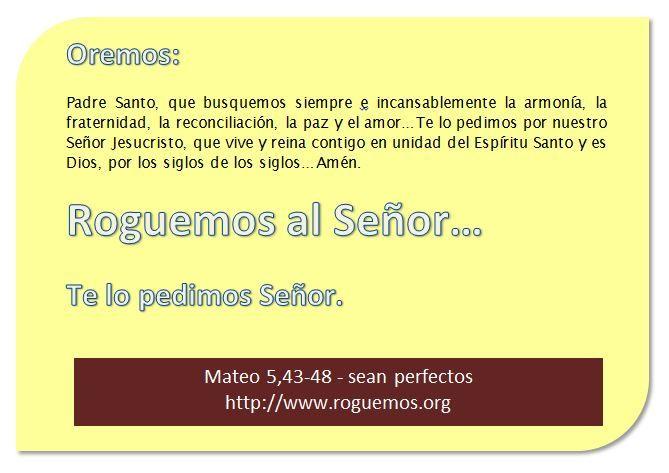 Mateo 5,43-48 - sean perfectos
