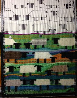 I like the sheep design ~ J Meetze Studio/Common Threads: Spinning Yarns for Tapestry Part Three