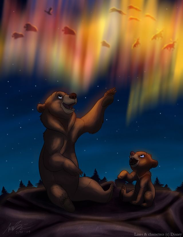 Day 36: Favorite Ending- I really love the end of Brother Beat because Kenai stays a bear to watch over Koda!! <3