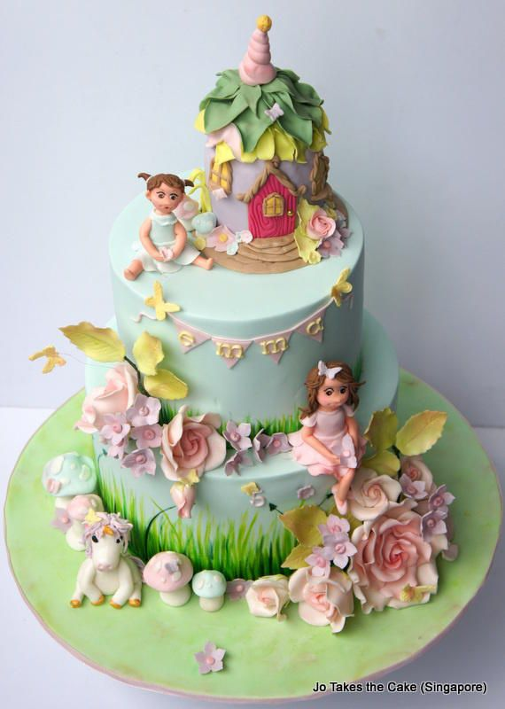 Fairy Garden - Cake by JoTakestheCake