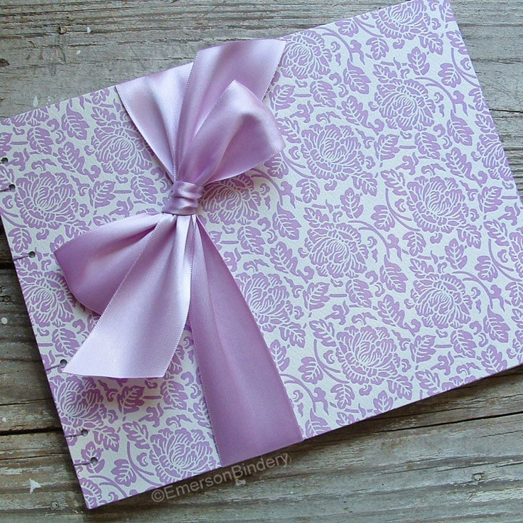 Items similar to Wedding Guest Book Lavender