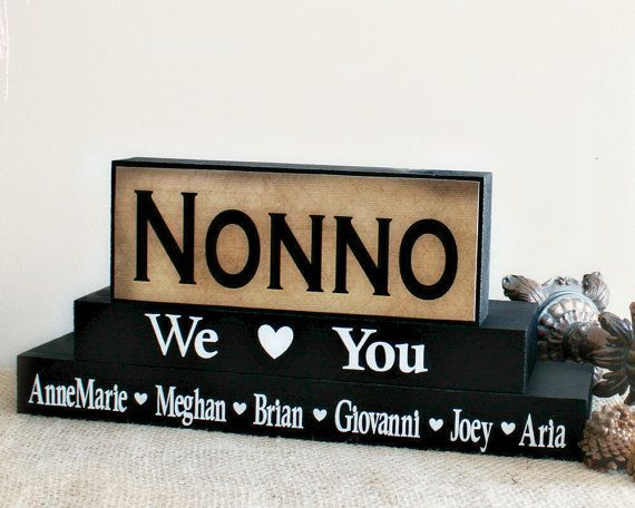 Nonno Personalized Gift - Fathers Day Present - Gift for Grandpa - Handmade…