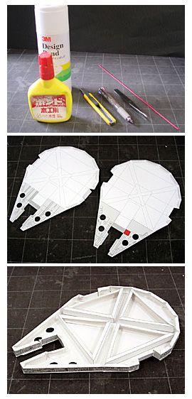 Star Wars Millenium Falcon Papercraft - DIY  