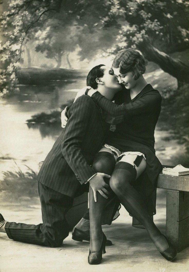 Friday's Kiss~  The Innocent Start ~ 1920s Biederer Postcard!