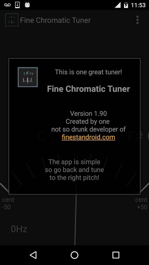 Fin chromatique tuner- guitare capture d'écran
