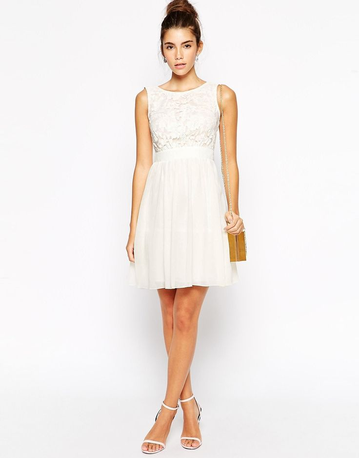 Little Mistress Petite | Little Mistress Petite Prom Dress With Plunge Back And Bow at ASOS