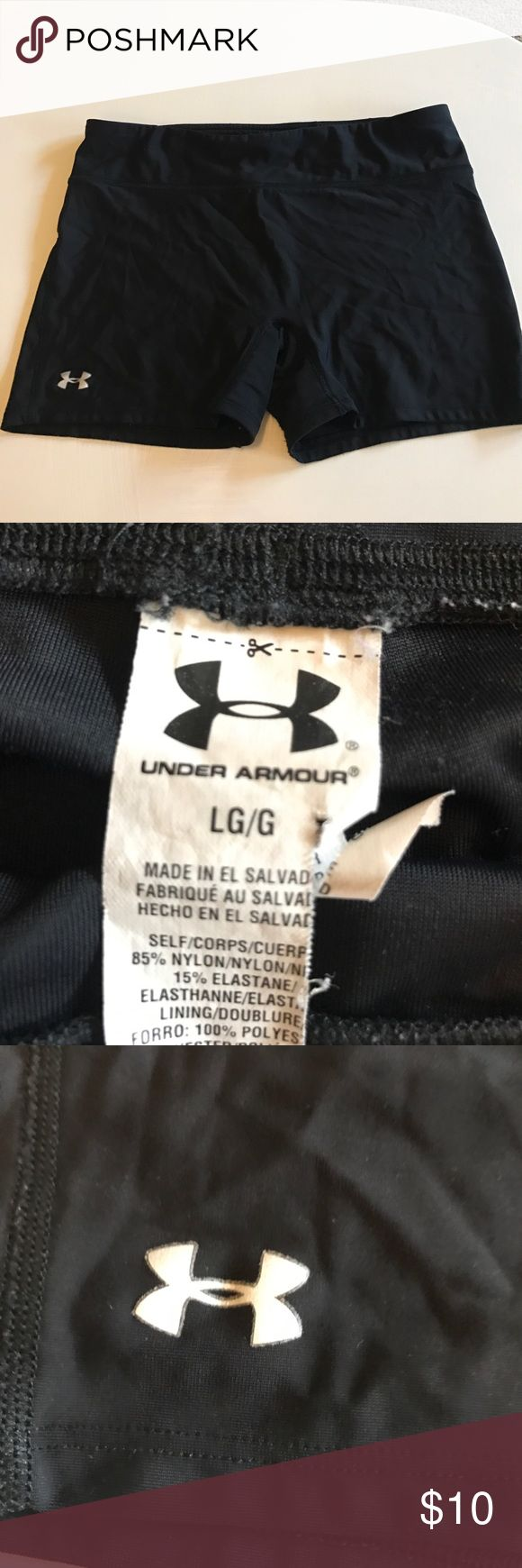 Black spandex shorts Comfy Spandex shorts! Only worn a few times! Under Armour Shorts