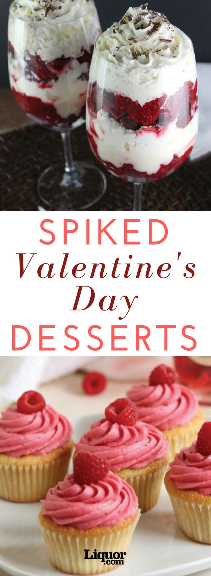 "With a plethora of cards full of clichés and cheap Champagnes to weed through on Valentine's Day, nothing says ""be mine"" like a spiked homemade treat.  A splash of liqueur, brown spirit, bubbly or a variety of vinos, from sparkling to fortified, go a long way in these Valentine's Day–ready sweets."