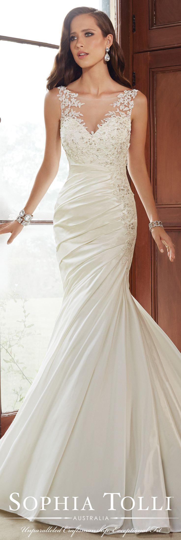 The Sophia Tolli Fall 2015 Wedding Dress Collection - Style No. Y21519 sophiatolli.com #tafettaweddingdress