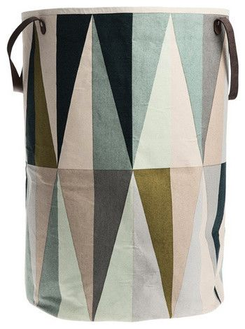 use for kitchen/baby toy storage. Spear Laundry Basket, Multi - contemporary - hampers - ferm LIVING