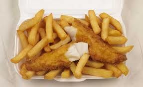 Fish and Chips with malt vinegar Mmmm