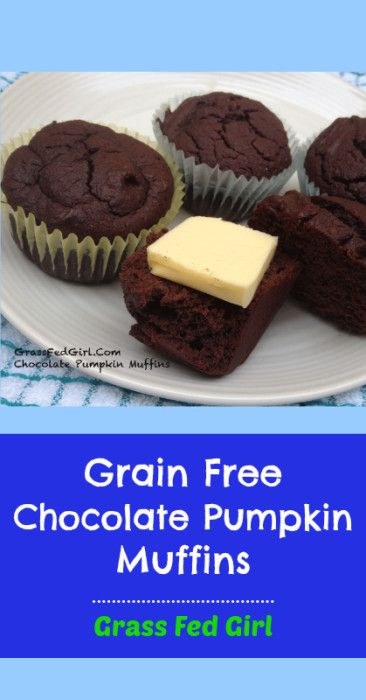Grain Free Chocolate Pumpkin Muffins - Grass Fed Girl, LLC