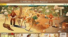 Gold rush: level 2 - The year is 1865 and there's a gold rush on in Australia. You are about to journey to the Victorian goldfields to join thousands of others trying to strike it rich. You will find yourself in Ballarat, where you can buy all you need for like on the goldfields.