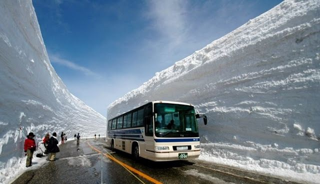 AMWTOUR TRAVEL BLOG: Eksotisnya Dinding Salju Pada Jalur Penghubung Dua...