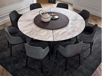 Round marble table with Lazy Susan CONCORDE | Marb…