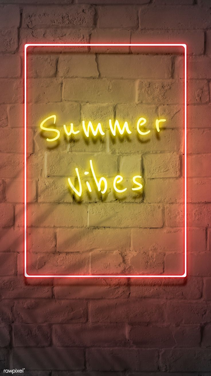 Download premium psd of Neon yellow summer vibes in a