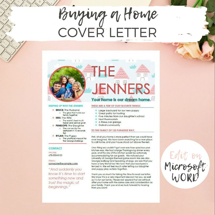Buying A New Home Letter To Seller Home Offer Cover