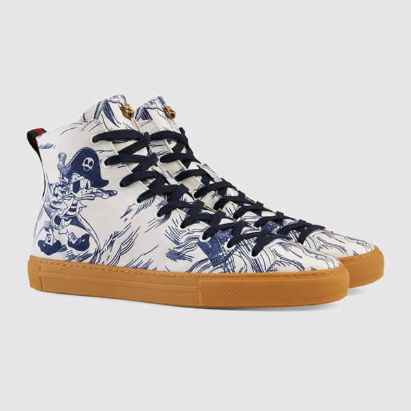 642a3245dce2 I need these Pirate Donald Duck Shoes. Take my paycheck now. GUCCI x Donald  Duck Capsule Collection - Disney Style Blog - …