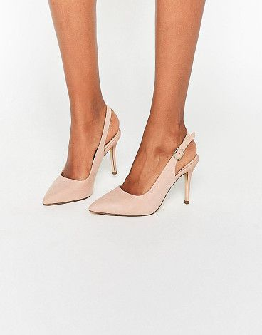 Slingback Pointed Shoe by New Look. Shoes by New Look, Faux-suede upper, Ankle-strap fastening, Slingback design, Pointed toe, High heel, Do not wash, 10...
