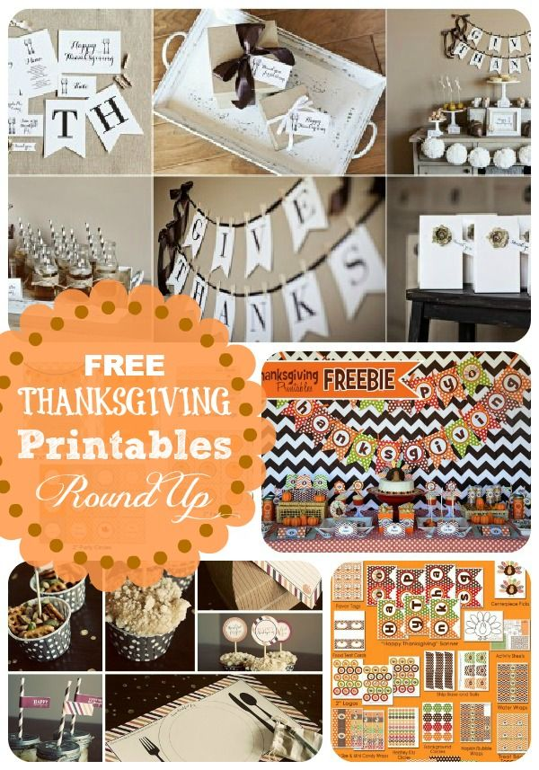 Ten sets of  FREE Thanksgiving Printables from SomewhatSimple.com