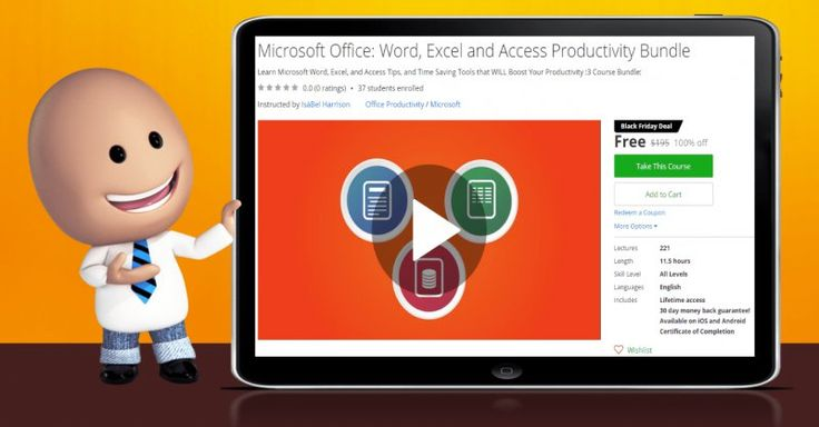 [100% Off] Microsoft Office: Word, Excel and Access Productivity Bundle| Worth 195$
