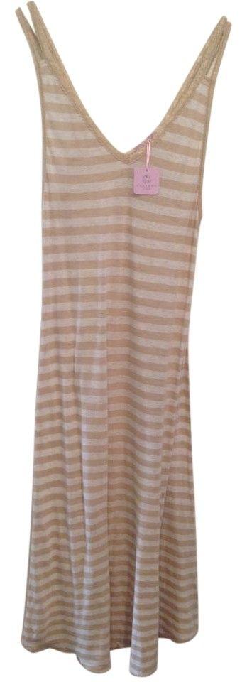 Tan Cream Maxi Dress by Calypso St. Barth