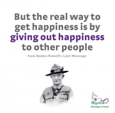 Bp Quote | The Real Way To Get Happiness Is By Giving Out Happiness To Other