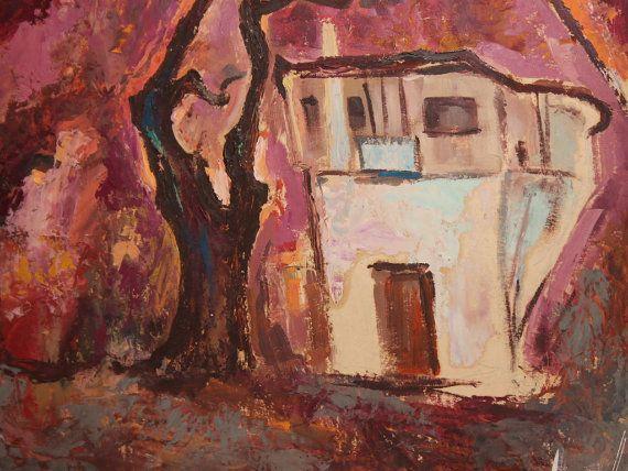 1960 's Russische expressionistische landschap