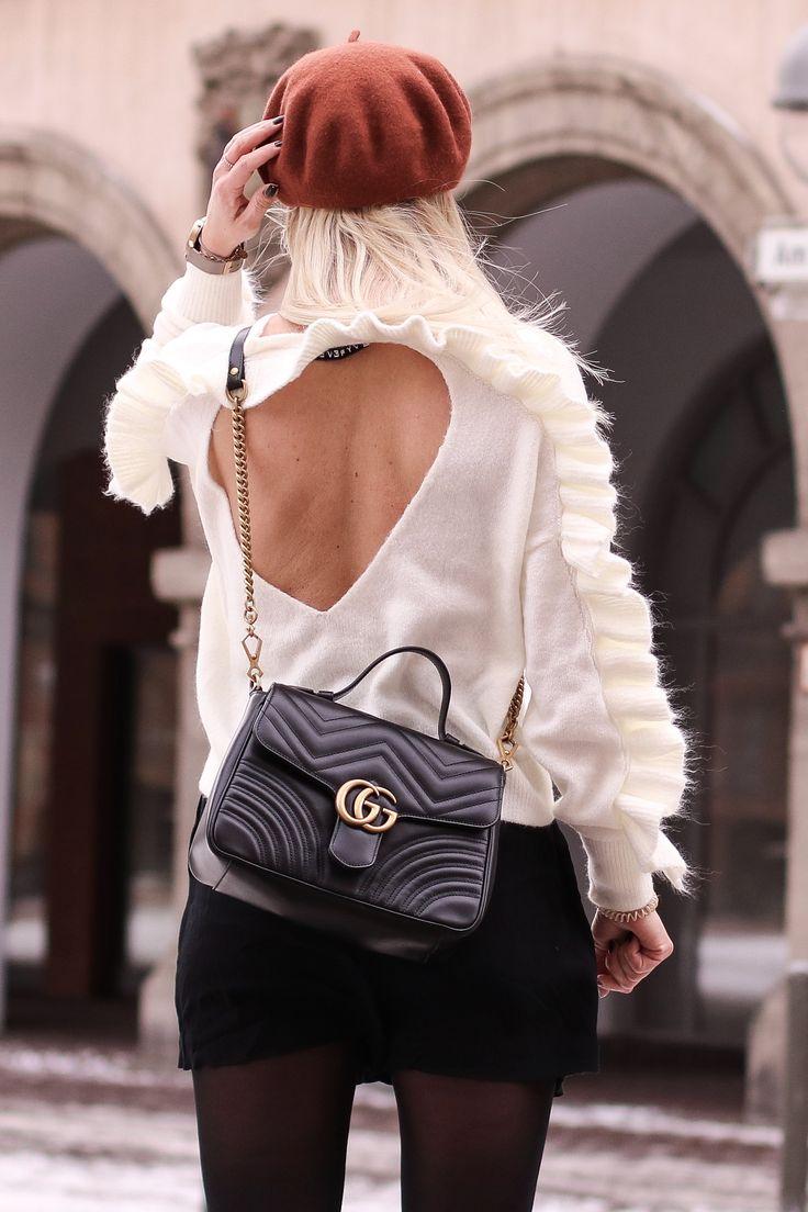 Gucci Marmont Love Ruffles, Rückenfrei, Ivyrevel, Tasche, Handtasche, Baskenmü… – Hot Port Life & Style [Fashion & Trends Blog]