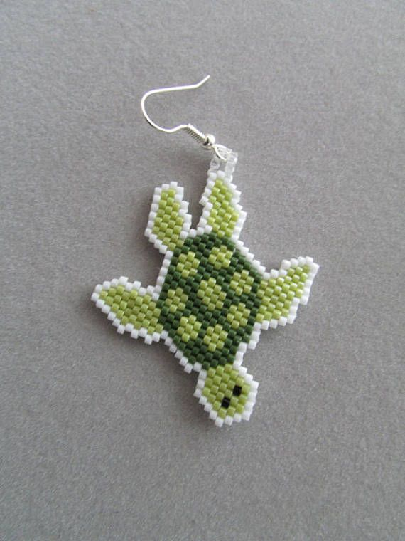 75 best Turtles seed bead earring and other. images on ...