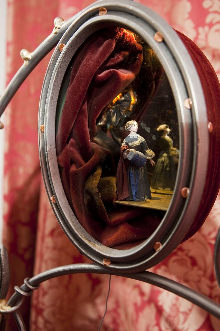 004 Diorama on the Jane Eyre Bed….jane running away…. Jane