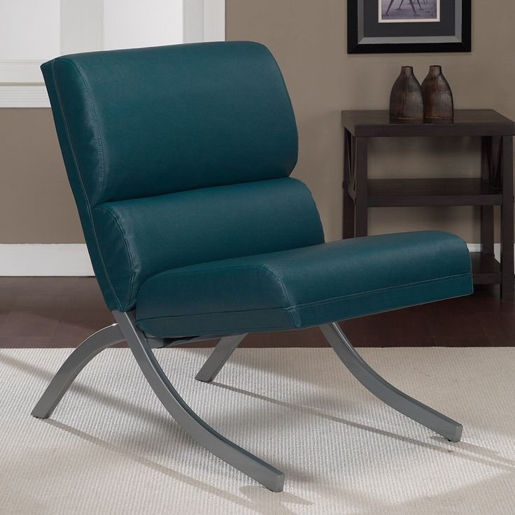 Rialto Teal Bonded Leather Upholstery Chair   Overstock™ Shopping   Great  Deals On Living Room