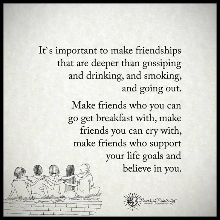 Friendship Quotes | It's important to make friendships ...