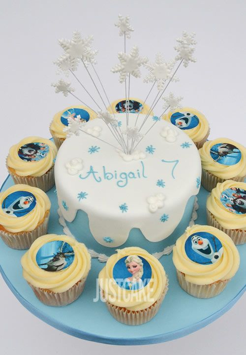 Frozen Birthday Cake and Cupcakes by Just Cake in Norfolk
